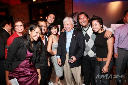 Congressman Honda shares a photo with KAYA Members at the September 28 Launch Event